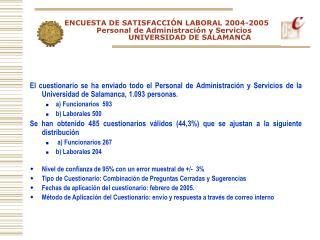 ENCUESTA 2004/2005 PAS-USAL