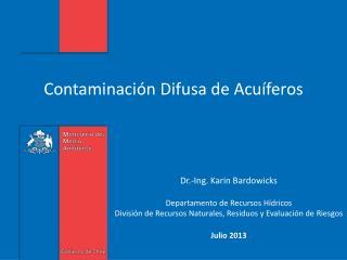 Contaminaci�n  D ifusa de Acu�feros