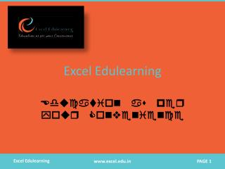 Excel Edulearning