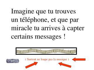 Imagine que tu trouves un téléphone, et que par miracle tu arrives à capter certains messages !