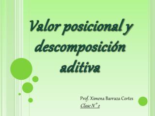 Valor posicional y descomposición aditiva