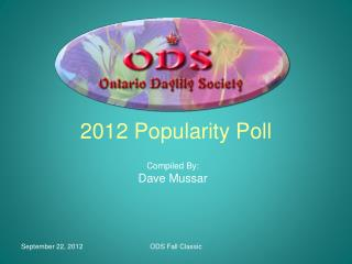 2012 Popularity Poll