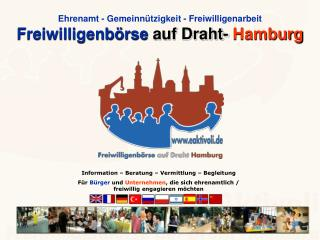 Ehrenamt - Gemeinnützigkeit - Freiwilligenarbeit Freiwilligenbörse  auf Draht- Hamburg