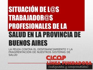 SITUACIÓN DE L@S TRABAJADOR@S PROFESIONALES DE LA  SALUD EN LA PROVINCIA DE BUENOS AIRES