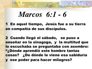 Marcos 6:1  -  6