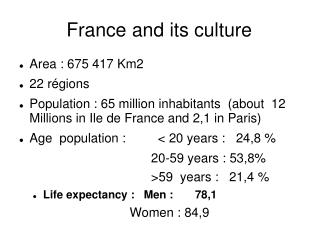 France and its culture