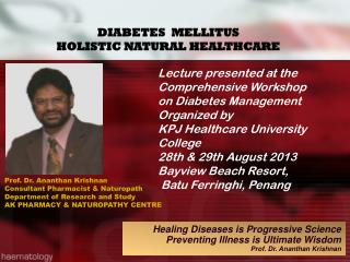 DIABETES  MELLITUS  HOLISTIC NATURAL HEALTHCARE