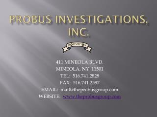 Probus investigations, inc.