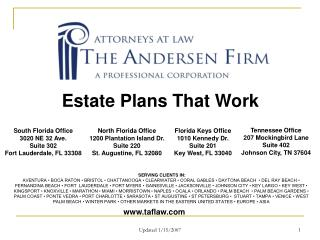 Estate Plans That Work