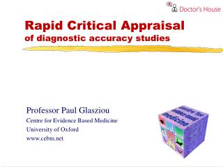 Rapid Critical Appraisal of diagnostic accuracy studies