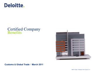 Certified Company Benefits