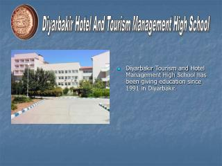 Diyarbakir Hotel And Tourism Management High School