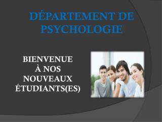D�PARTEMENT DE PSYCHOLOGIE
