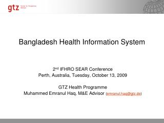 Bangladesh Health Information System