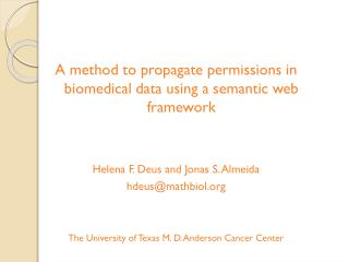 A method to propagate permissions in biomedical data using a semantic web framework