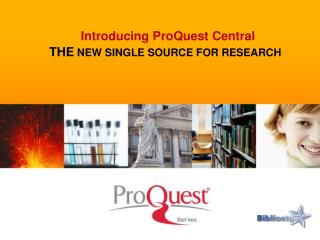 THE  NEW SINGLE SOURCE FOR RESEARCH