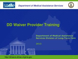 DD Waiver Provider Training