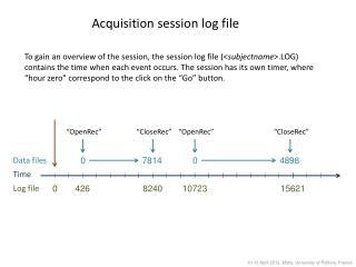 Acquisition session log file