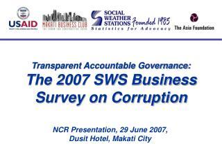 SWS Surveys of Enterprises on Corruption 2000-2007