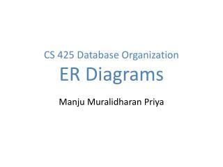 CS 425 Database Organization ER Diagrams