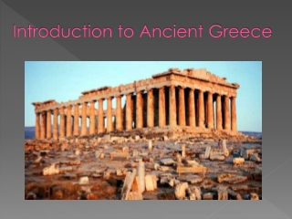 How did geography influence the development of Ancient Greece