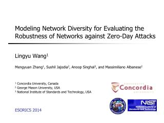 Modeling Network Diversity for Evaluating the Robustness of Networks against Zero-Day Attacks