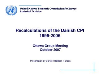 Recalculations of the Danish CPI  1996-2006