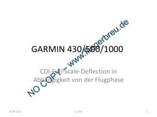 GARMIN 430/500/1000