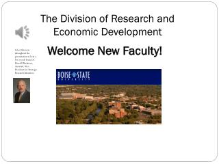 The Division of Research and  Economic Development