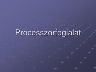 Processzorfoglalat