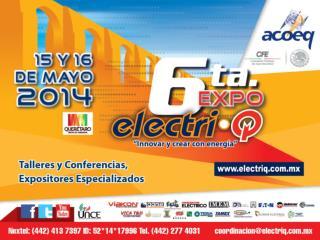 Por las cuales participar en el 6to Congreso Nacional  ElectriQ: