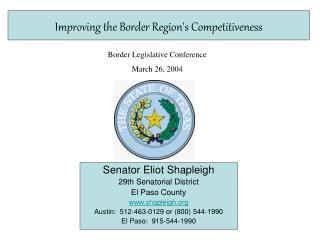 Improving the Border Region's Competitiveness
