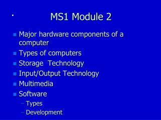 MS1 Module 2