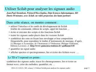 Utiliser Scilab pour analyser les signaux audio