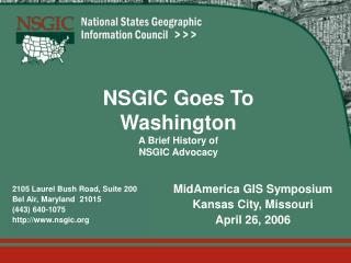 NSGIC Goes To Washington A Brief History of NSGIC Advocacy