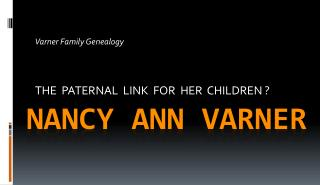 Nancy Ann Varner