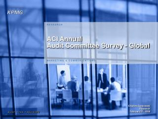 ACI Annual Audit Committee Survey - Global