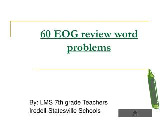 60 EOG review word problems