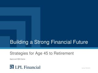 Building a Strong Financial Future