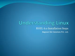 Understanding Linux