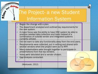 The Project- a new Student Information System