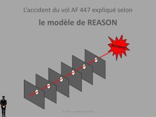 L'accident du vol AF 447 expliqué selon  le modèle de REASON