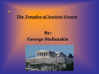 The Temples of Ancient Greece