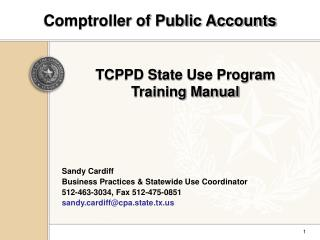 Comptroller of Public Accounts