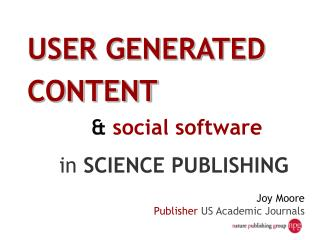 Joy Moore Publisher US Academic Journals