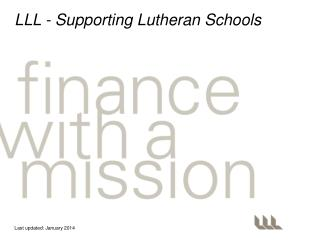 LLL - Supporting Lutheran Schools