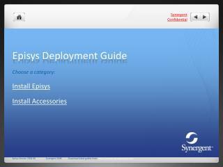 Episys Deployment Guide