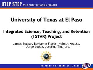 UTEP STEP STEM TALENT EXPANSION PROGRAM