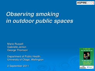 Observing smoking  in outdoor public spaces