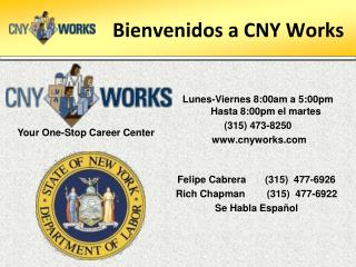 Bienvenidos  a CNY Works